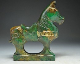 "FROM A COLLECTION JADE CARVING ""HORSE"""