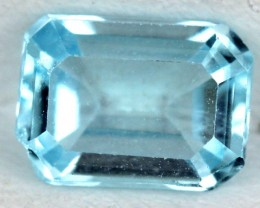 BLUE TOPAZ NATURAL FACETED 1.2  CTS SG-1834