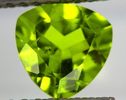 PERIDOT FACETED STONE  1.75  CTS    SG -1907
