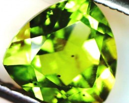 PERIDOT FACETED STONE  2.15  CTS    SG -1962