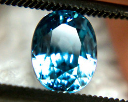 2.69 Carat VVS1 South East Asian Blue Zircon - Beautiful