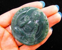 240 Cts Buddha  carved in Beautiful Agate GG 1334