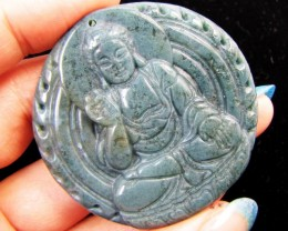 240- Cts Buddha  carved in Beautiful Agate GG 1336