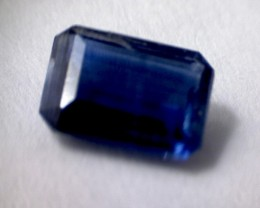 1.7ct Royal Blue Emerald Cut Kyanite Beauty TH09