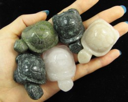 1190 Cts 5 Turtles  carved in Beautiful Jaspers GG 1349