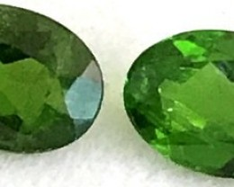 2.45ct 4pc Rich Green Chrome Diopside Pair VVS TH30-F20