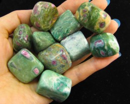 220 Grams  Tumbled Zoisite Gemstones  MYGM 721