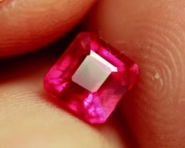 1.77 Carat Flashy, Fiery Pinkish Red Ruby - Superb