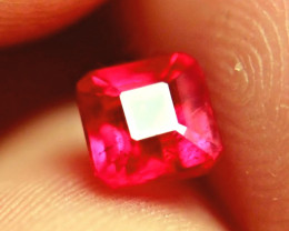 1.77 Carat Flashy, Fiery Pinkish Red Ruby - Superb