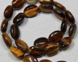 250 CTS 1 STRAND TIGER EYE 15X 11MM ROUND BEAD 15INCH LENGHT