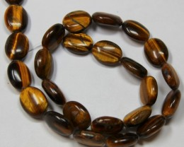 255 CTS 1 STRAND TIGER EYE 15 X11 MM OVAL BEAD 15INCH LENGHT