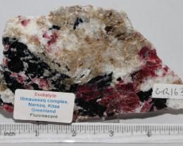 Eudialyte Slice, IIimaussaq complex, Greenland (GR163)