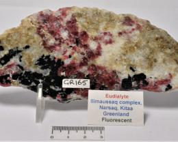 Eudialyte Slice, IIimaussaq complex, Greenland (GR165)