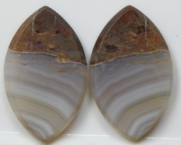 19.30 CTS AGATE PAIR POLISHED STONES GREAT RANGE IN STORE