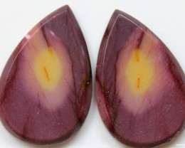 34.60 CTS JASPER PAIR POLISHED STONES GREAT RANGE IN STORE