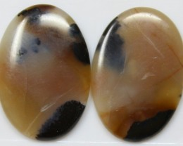 18.40 CTS AGATE PAIR POLISHED STONES GREAT RANGE IN STORE