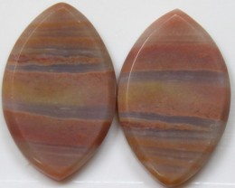 25.05 CTS JASPER PAIR POLISHED STONES GREAT RANGE IN STORE