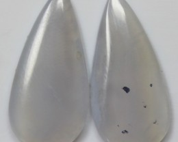17.10 CTS AGATE PAIR POLISHED STONES GREAT RANGE IN STORE