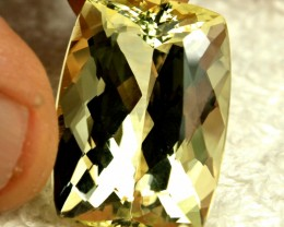 CERTIFIED - 35.65 Carat VVS1 Golden Beryl - Superior Gem