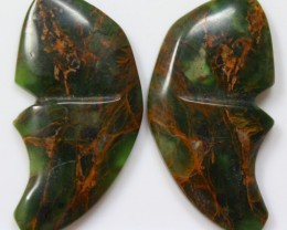 35.10 CT JASPER PAIR POLISHED BUTTERFLY GREAT RANGE IN STORE