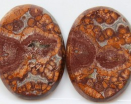 27.95 CTS JASPER PAIR POLISHED STONES GREAT RANGE IN STORE