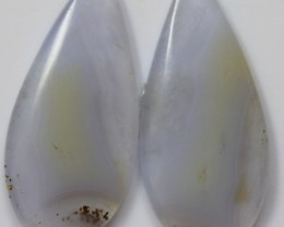 19.65 CTS AGATE PAIR POLISHED STONES GREAT RANGE IN STORE