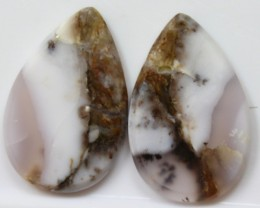 25.85 CTS AGATE PAIR POLISHED STONES GREAT RANGE IN STORE