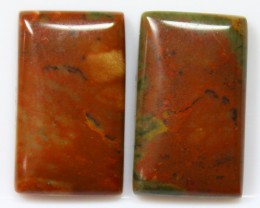 19.15 CTS JASPER PAIR POLISHED STONES GREAT RANGE IN STORE