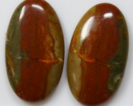 17.20 CTS JASPER PAIR POLISHED STONES GREAT RANGE IN STORE