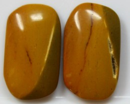 13.05 CTS JASPER PAIR POLISHED STONES GREAT RANGE IN STORE