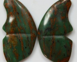 35.55 CTS JASPER PAIR POLISHED STONES GREAT RANGE IN STORE