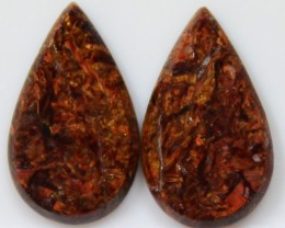 5.60 CTS JASPER PAIR POLISHED STONES GREAT RANGE IN STORE