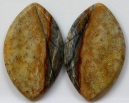 20.25 CTS JASPER PAIR POLISHED STONES GREAT RANGE IN STORE