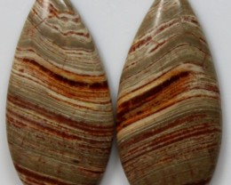 18.75 CTS JASPER PAIR POLISHED STONES GREAT RANGE IN STORE