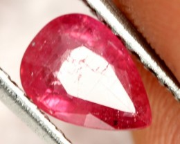 0.98 CTS BRIGHT AFRICAN RUBY - TOP GRADE STONE (RUB58)