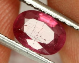 1.34 CTS BRIGHT AFRICAN RUBY - TOP GRADE STONE (RUB65)