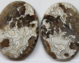 30.15 CTS AGATE PAIR POLISHED STONES GREAT RANGE IN STORE