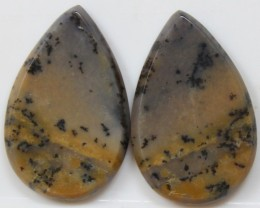 28.45 CTS AGATE PAIR POLISHED STONES GREAT RANGE IN STORE