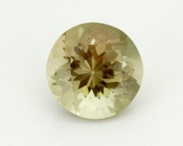2.7ct Champagne Green Round Oregon Sunstone (S2250)