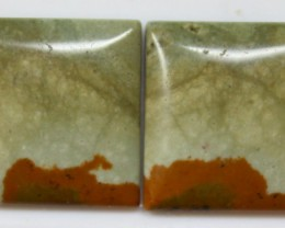 22.95 CTS JASPER PAIR POLISHED STONES GREAT RANGE IN STORE