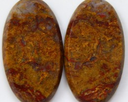 25.50 CTS JASPER PAIR POLISHED STONES GREAT RANGE IN STORE