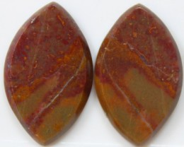 21.25 CTS JASPER PAIR POLISHED STONES GREAT RANGE IN STORE