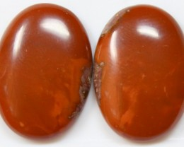 40.60 CTS JASPER PAIR POLISHED STONES GREAT RANGE IN STORE