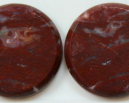 22.10 CTS JASPER PAIR POLISHED STONES GREAT RANGE IN STORE