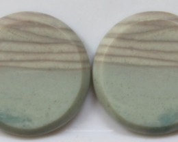 21.45 CTS JASPER PAIR POLISHED STONES GREAT RANGE IN STORE