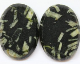 36.85 CTS JASPER PAIR POLISHED STONES GREAT RANGE IN STORE