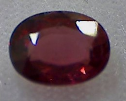 1.70ct Pretty Lusterous Rose Red Rhodolite Garnet,VVS TH73