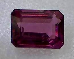 1.40ct Lovely Pupleish Red Firey Rhodolite Garnet VVS TH73