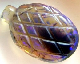 BLACK OPAL VASE CARVING  8.5 CTS [MGW1460 ]