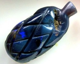 BLACK OPAL VASE CARVING 6.5 CTS [MGW1464 ]